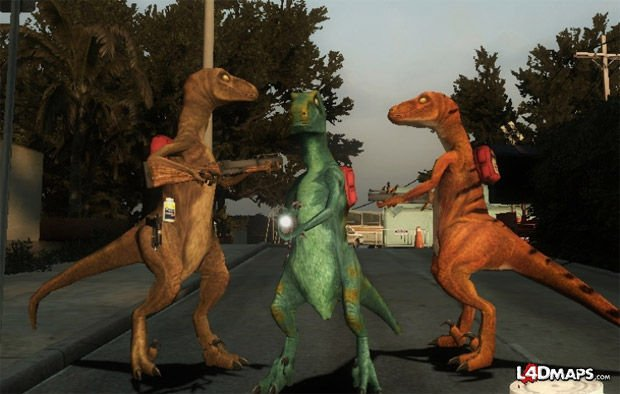 Left 4 Dead mod Survivors: Velociraptors