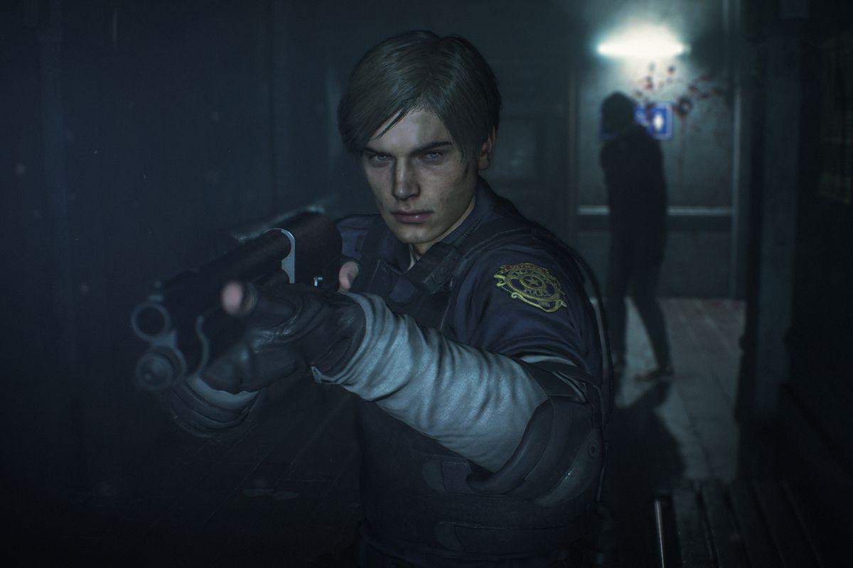 Leon in Resident Evil 2 Remake.