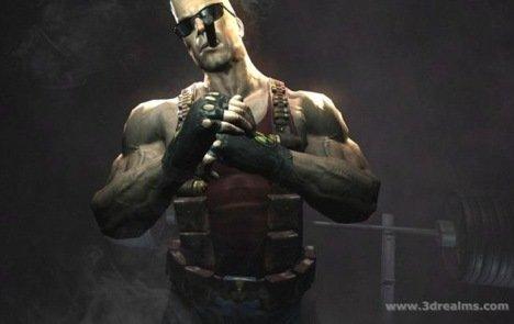 Duke Nukem, cracking his knuckles for no reason.