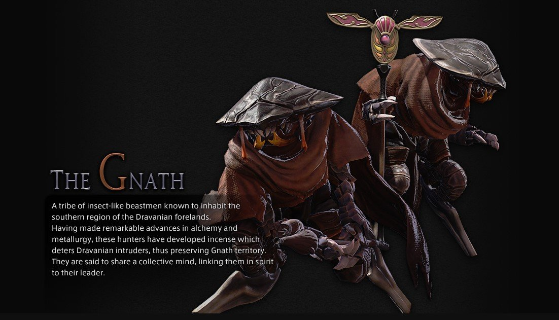 FFXIV's Gnath, a non-playable Beast Tribe