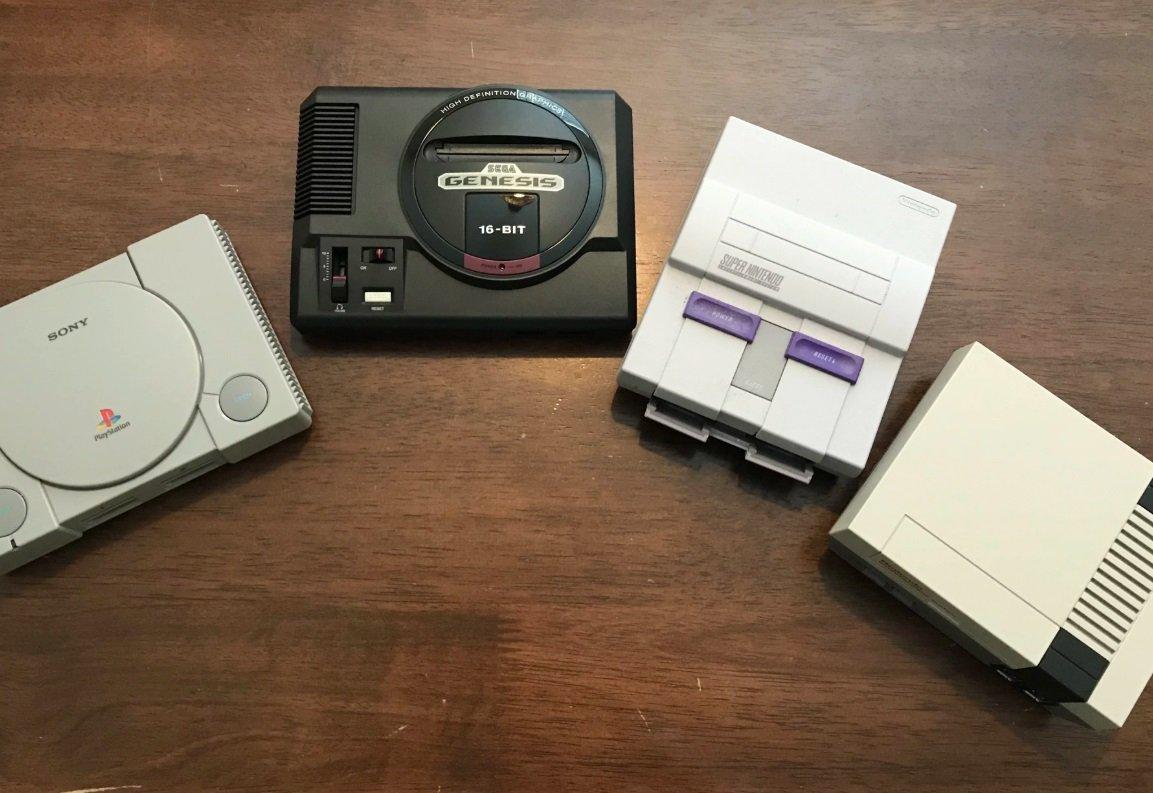 Sega Genesis Mini size comparison