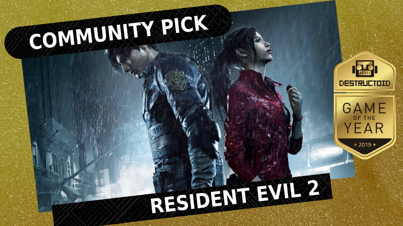 The 2019 Destructoid Community Game of the Year Award goes to Resident Evil 2