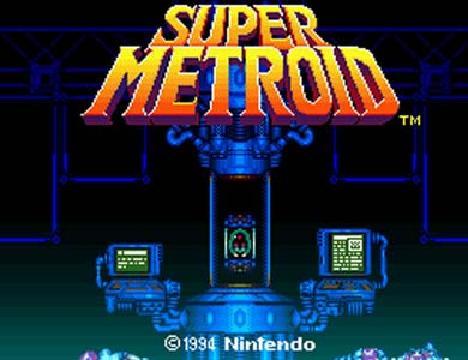 Super Metroid title screen