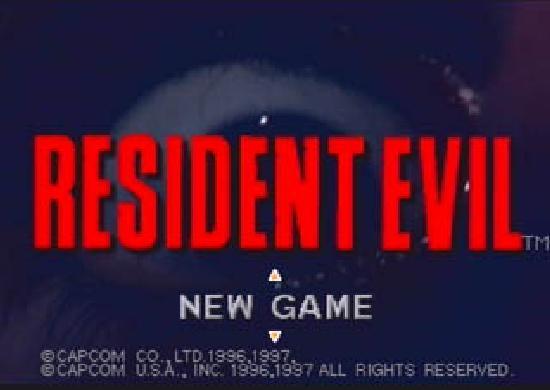 Resident Evil title screen