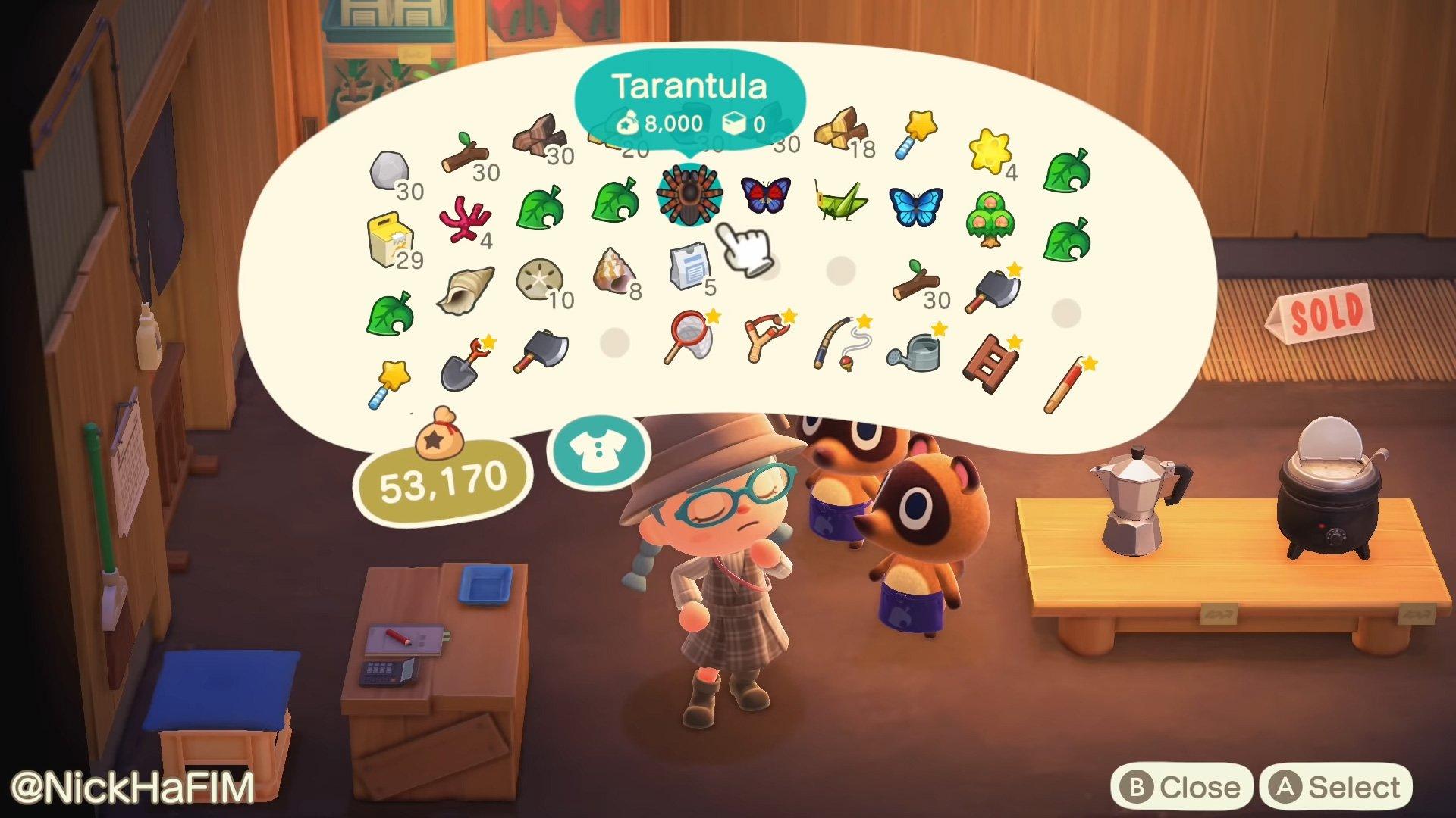 Animal Crossing: New Horizons item price check fan idea