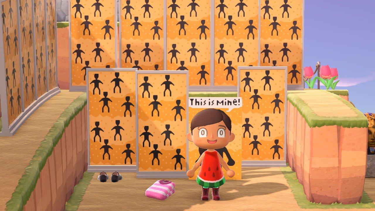 Animal Crossing Junji Ito face-cutout standee