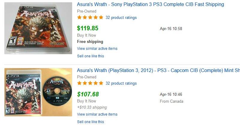 Asura's Wrath listing
