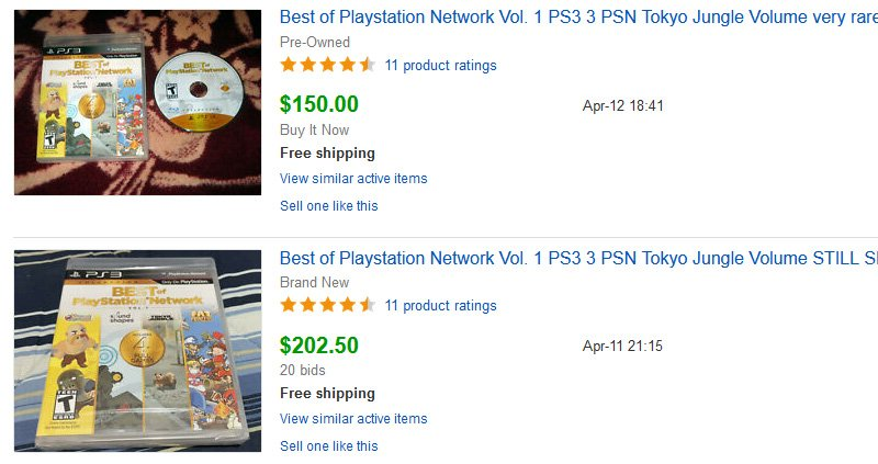 Best of PlayStation Network Vol. 1 listing