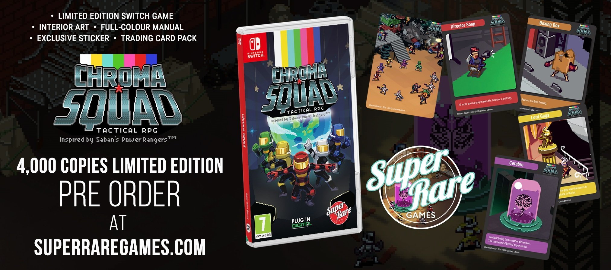 Chroma Squad Super Rare Games contest out now win
