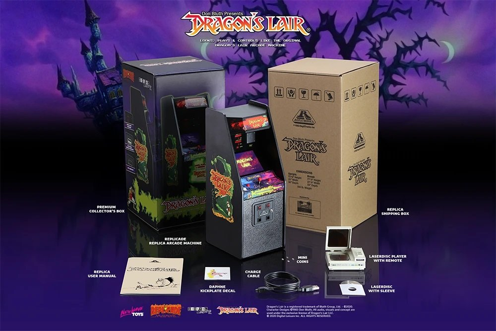 Draagon's Lair x RepliCade arcade cabinet contest win