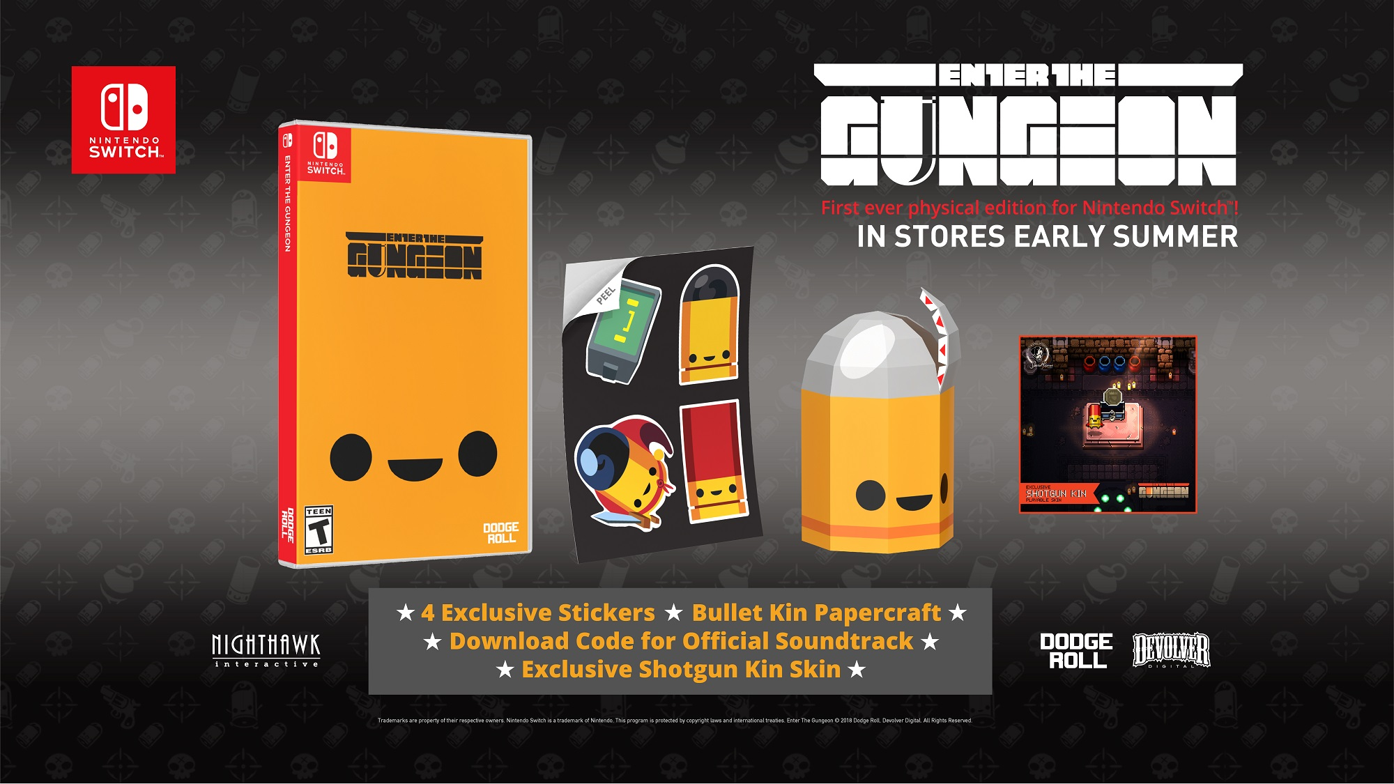 Enter the Gungeon physical edition Switch contest
