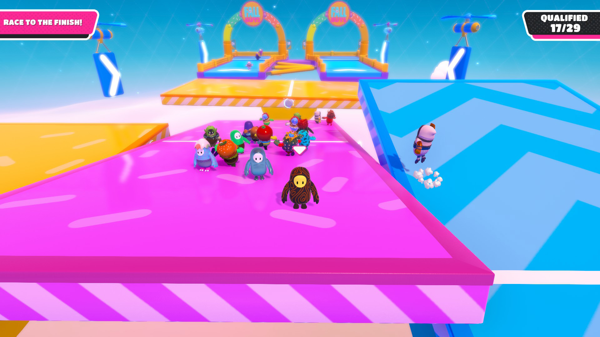 Fall Guys Season 2 added an evil new seesaw at the end of the level