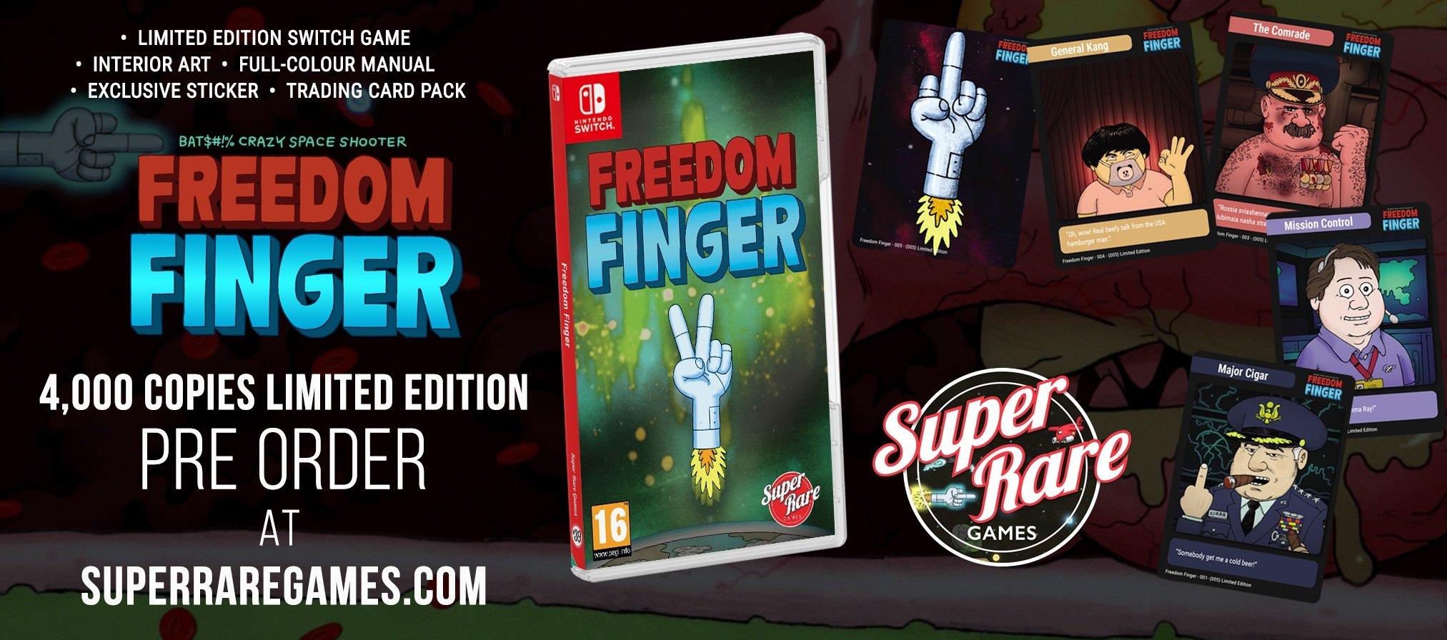 Contest Freedom Finger Super Rare Games win Switch