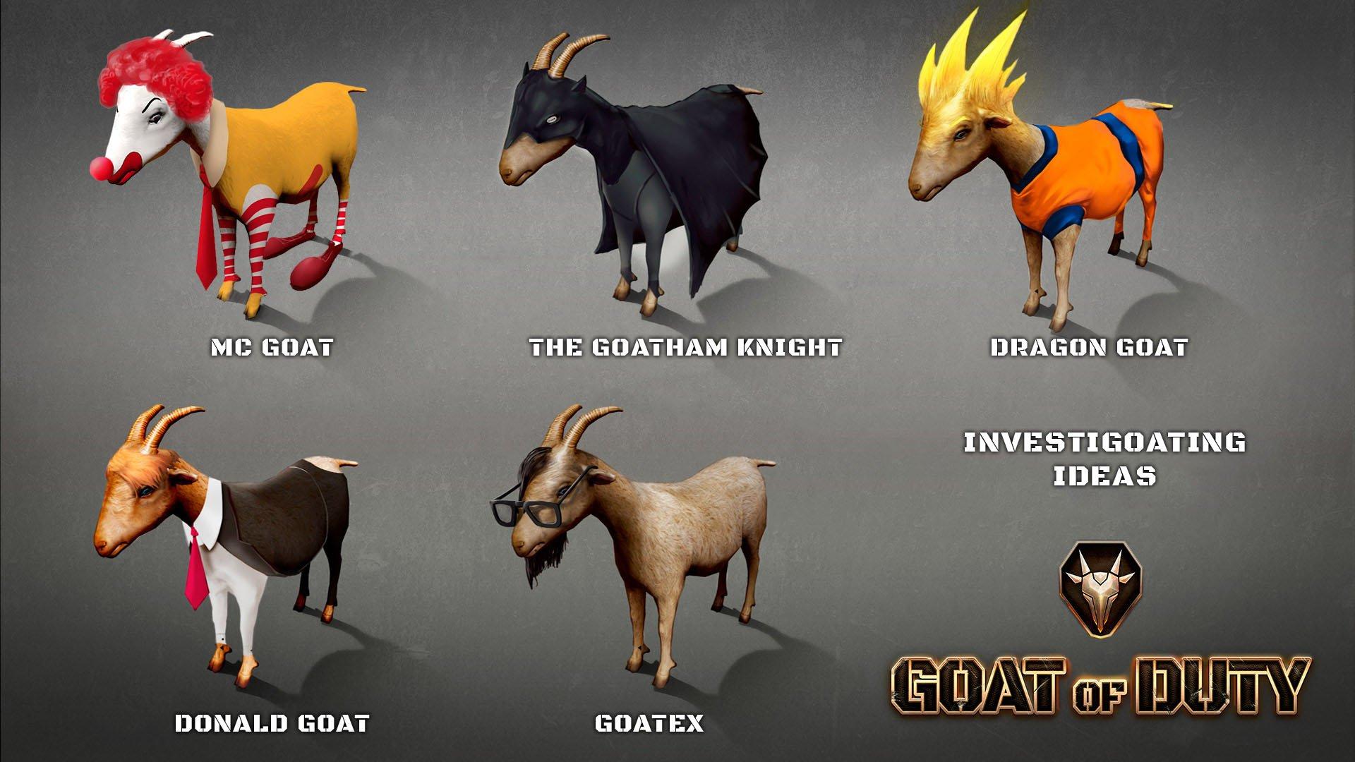 Goat of Duty Donald Trump Skrillex McDonalds Goku Batman