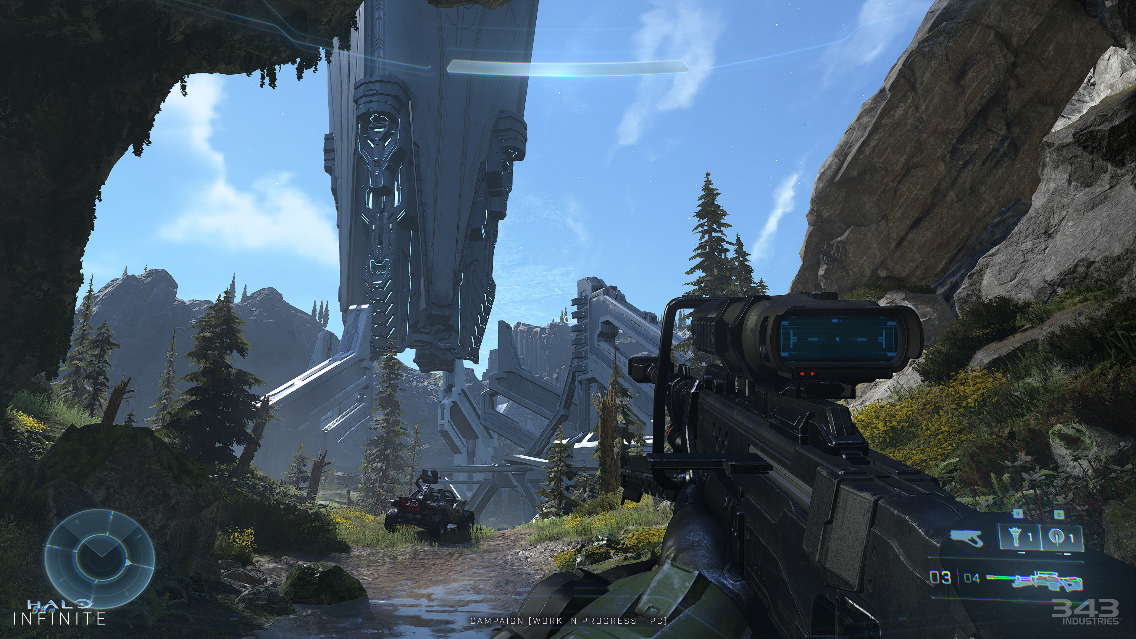 """Even if it's not finalized, I'll dub this the """"Halo Infinite sniper screenshot."""" It's *the one*."""