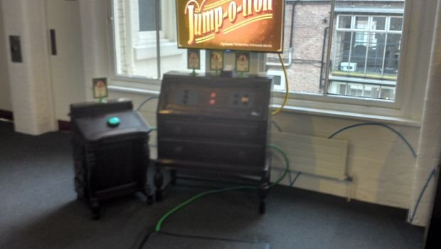 A (slightly blurry) image of the Jump-O-Tron