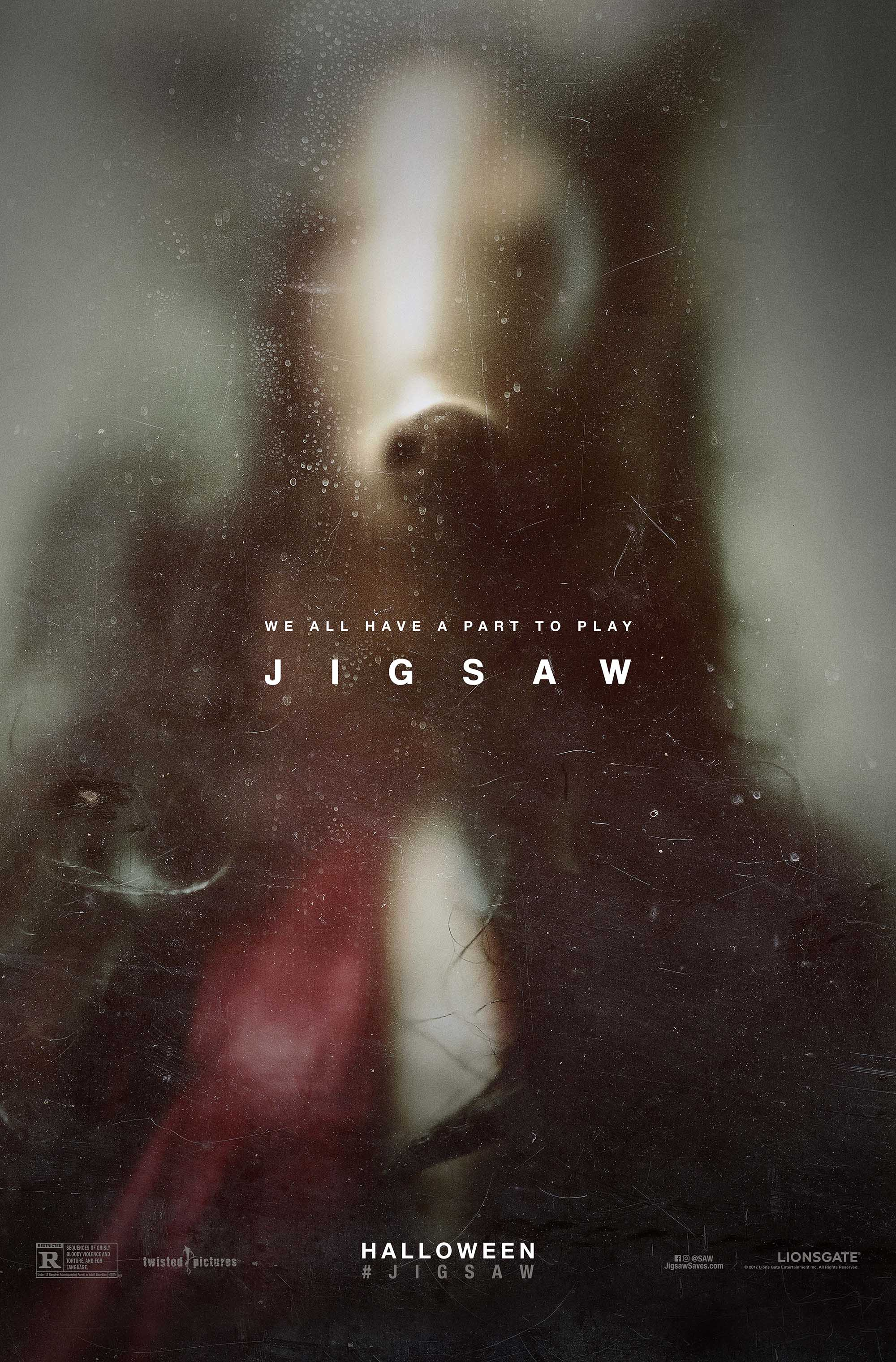 Jigsaw (Saw 8) has a teasing new poster. Oh my.