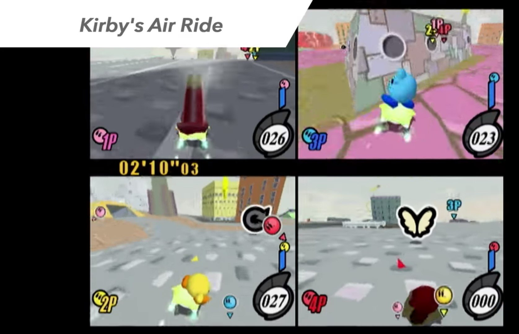 City Trial screenshot, from the Smash Run demonstration for Smash Bros 3DS