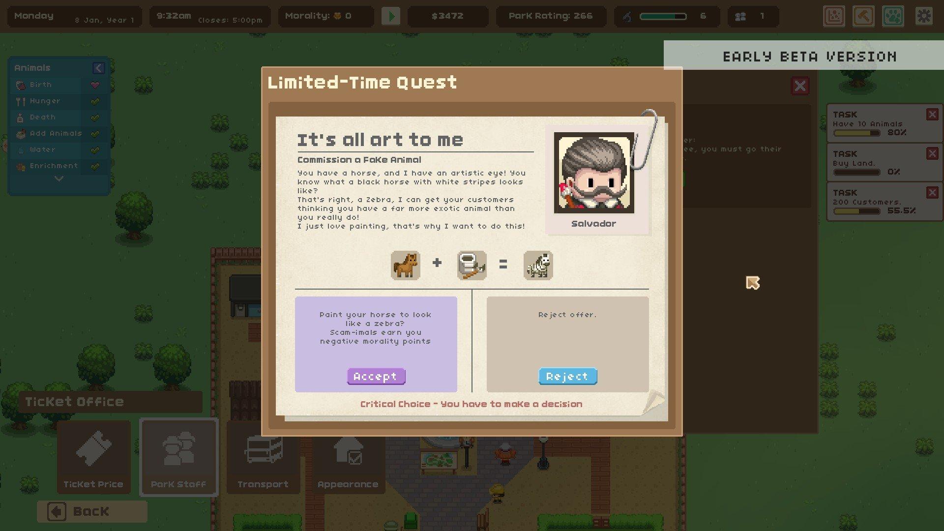 Let's Build A Zoo quest screenshot