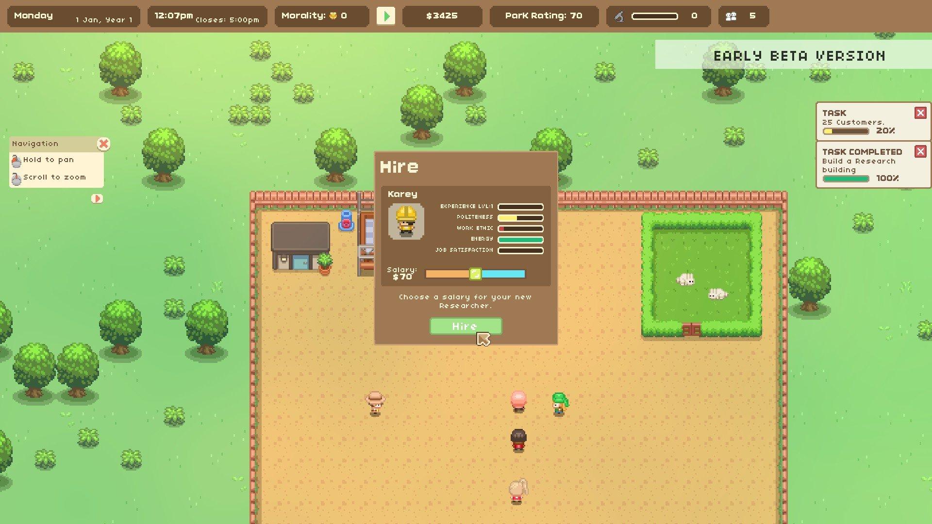 Let's Build A Zoo hiring screenshot