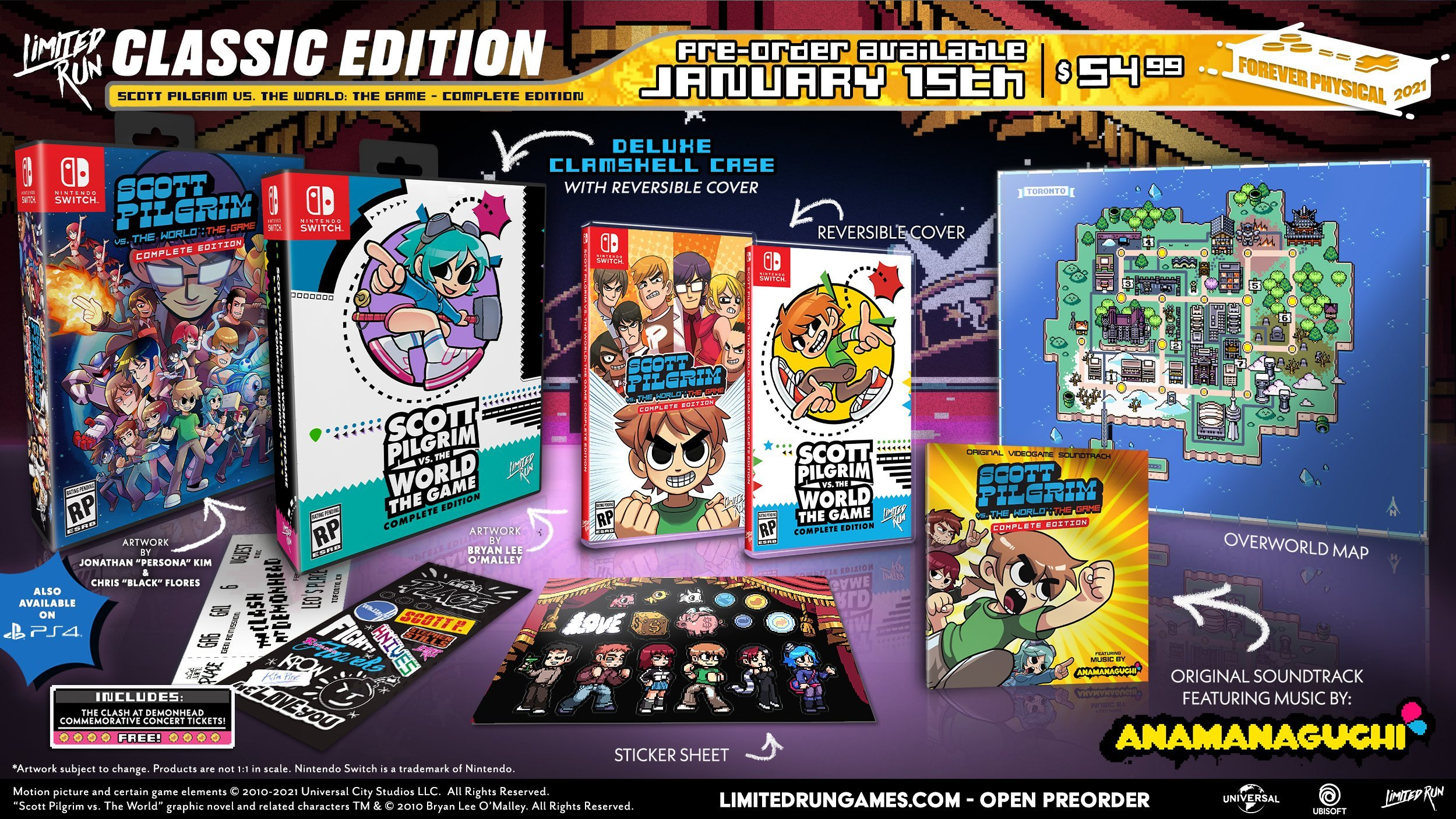 The Classic physical edition of Scott Pilgrim vs. the World: The Game