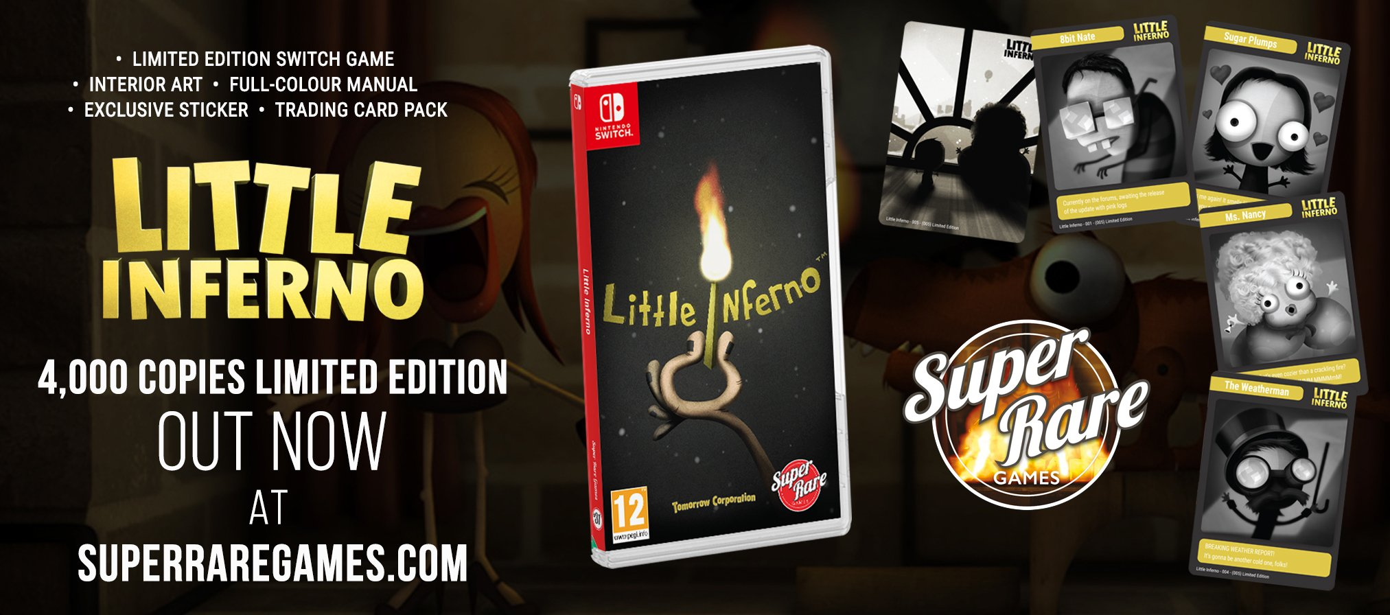 Super Rare Games Little Inferno Switch contest out now