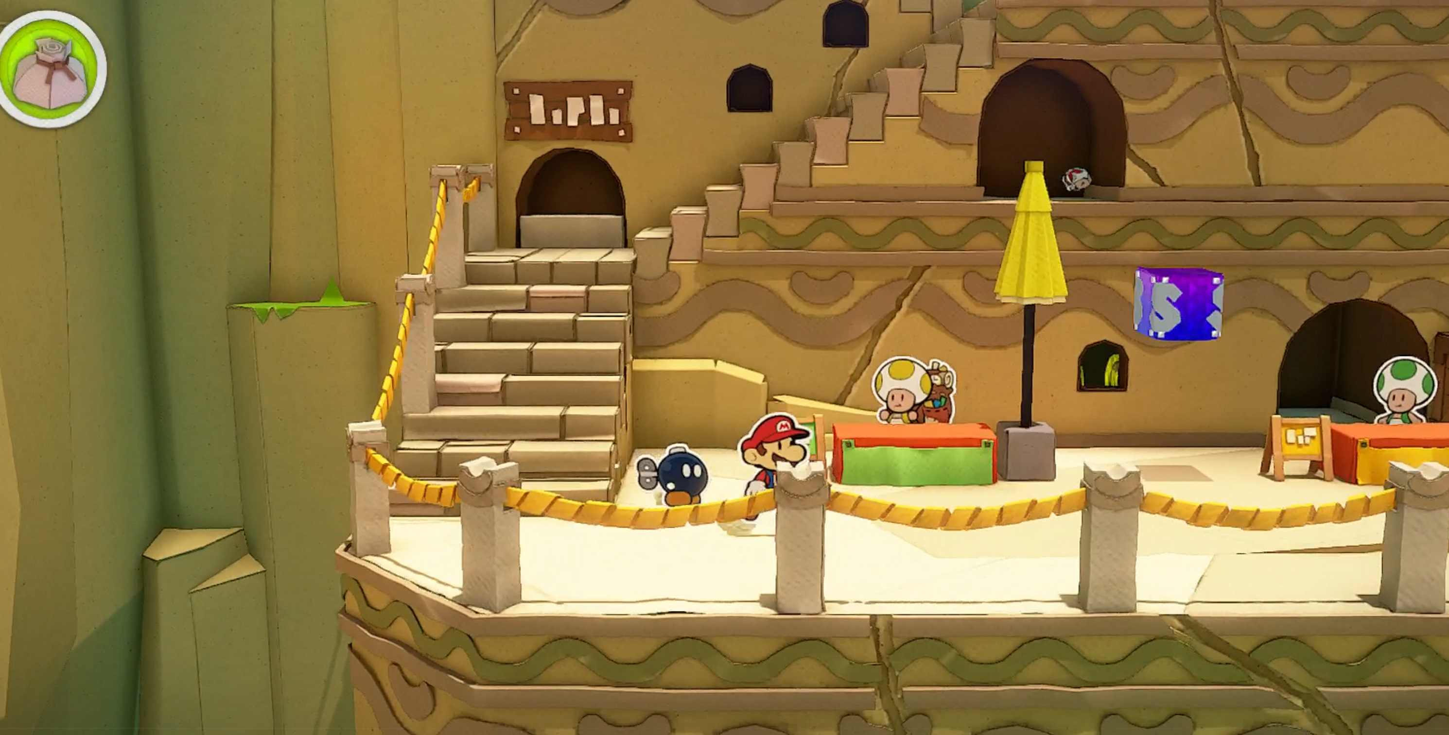How to find the Toad Bell in Paper Mario: The Origami King