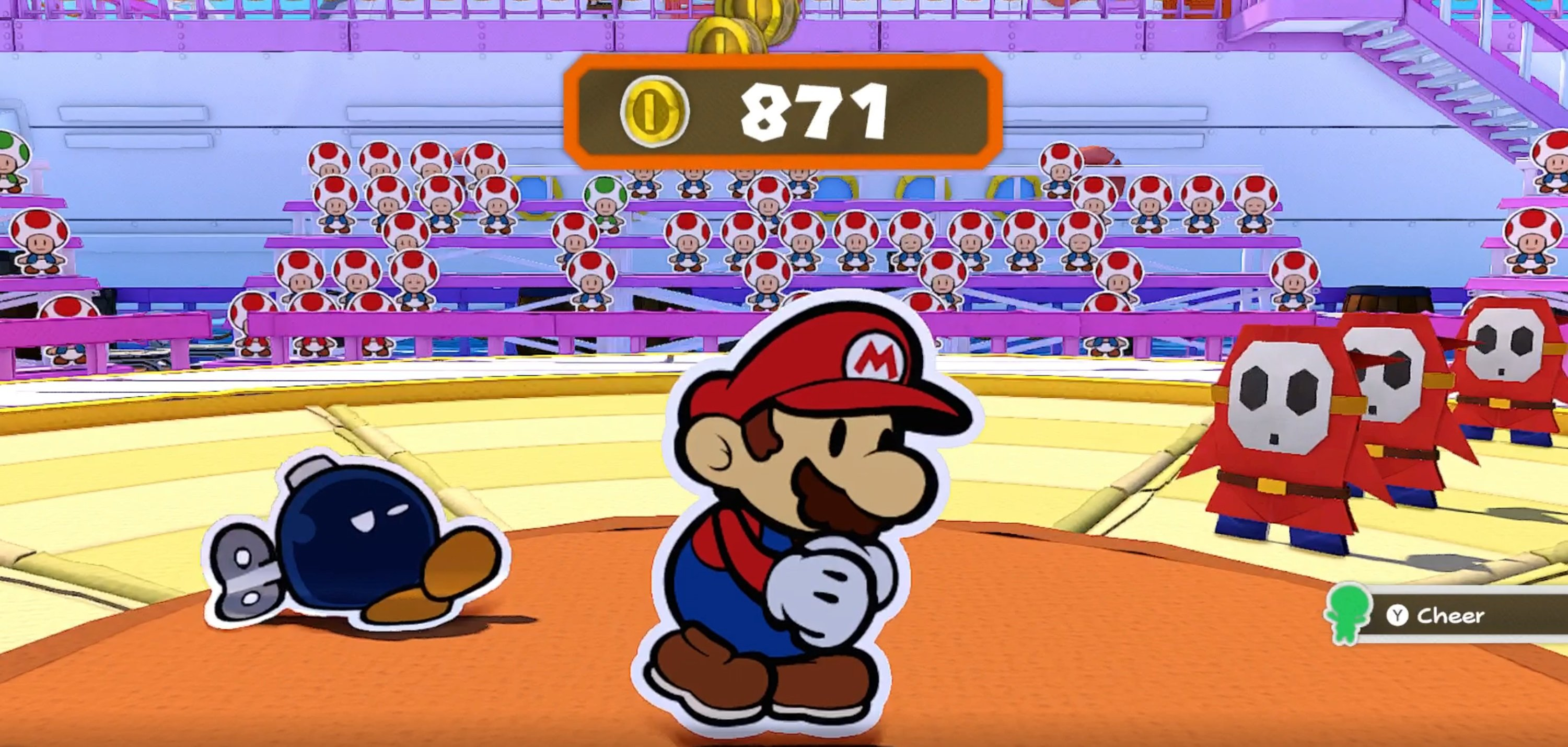 How to pay Toads in Paper Mario: The Origami King