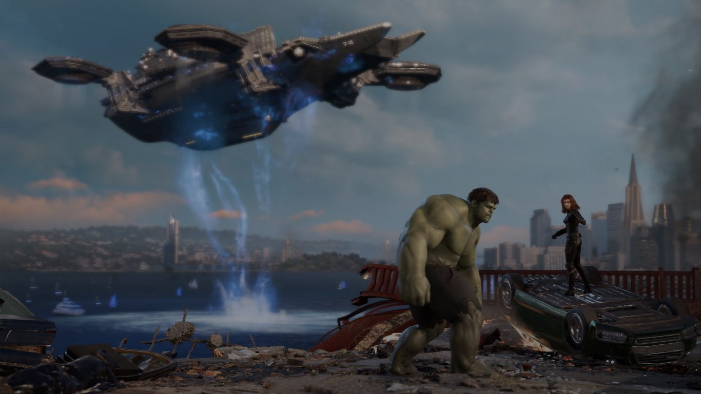 Marvel's Avengers Hulk with Black Widow
