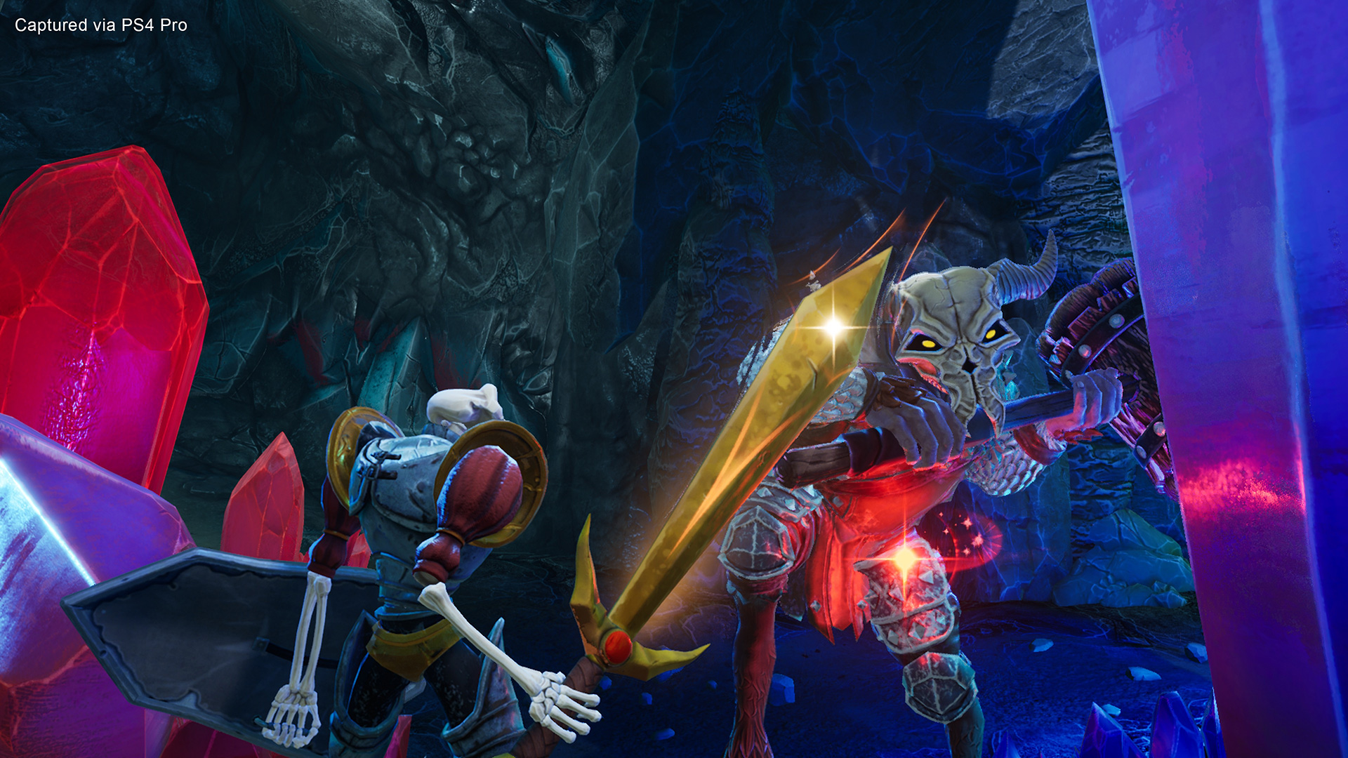 A screenshot from the MediEvil PS4 remake