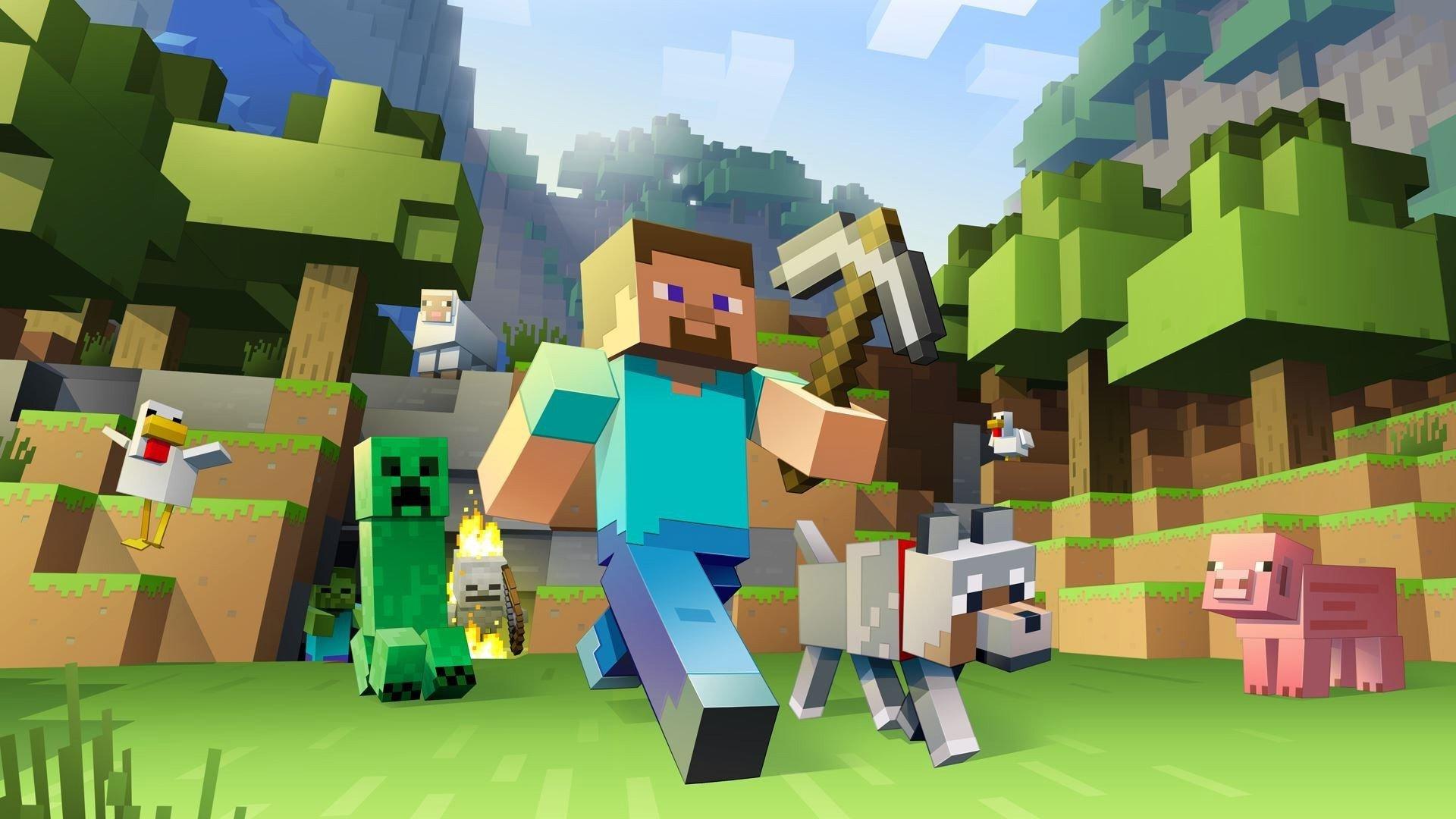 Minecraft background art.