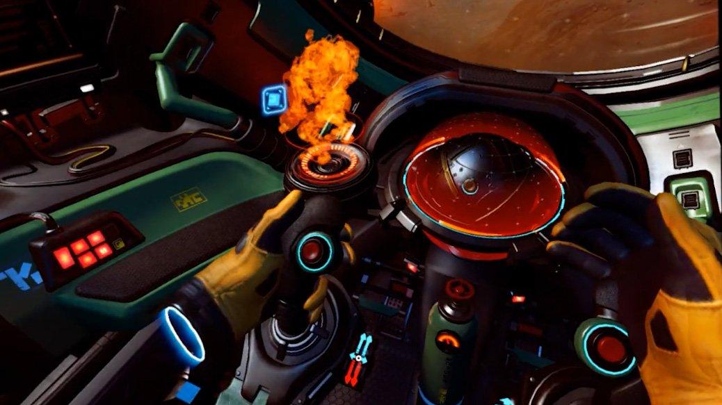 Minotaur cockpit view in VR