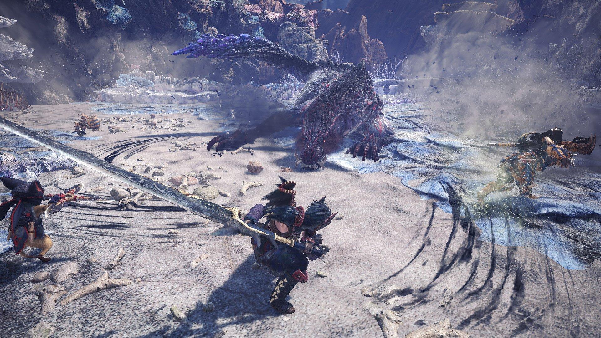 Ebony Odogaron will go all dragon on your ass in Monster Hunter World: Iceborne