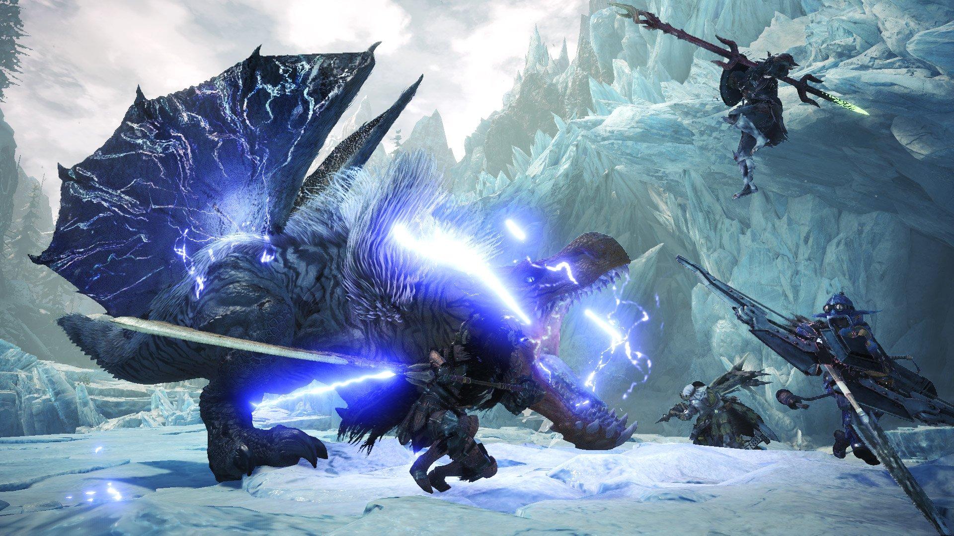 Fulgur Anjanath has lightning snot in Monster Hunter World: Iceborne