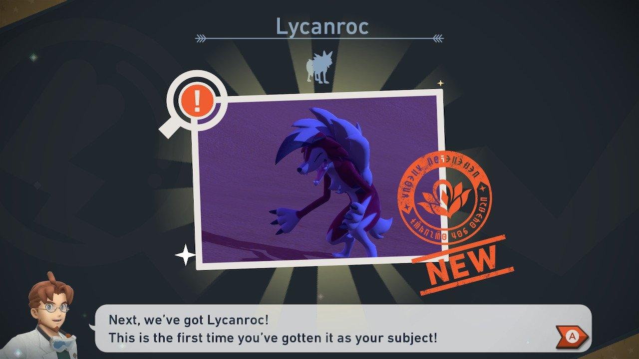 Lycanroc in New Pokémon Snap