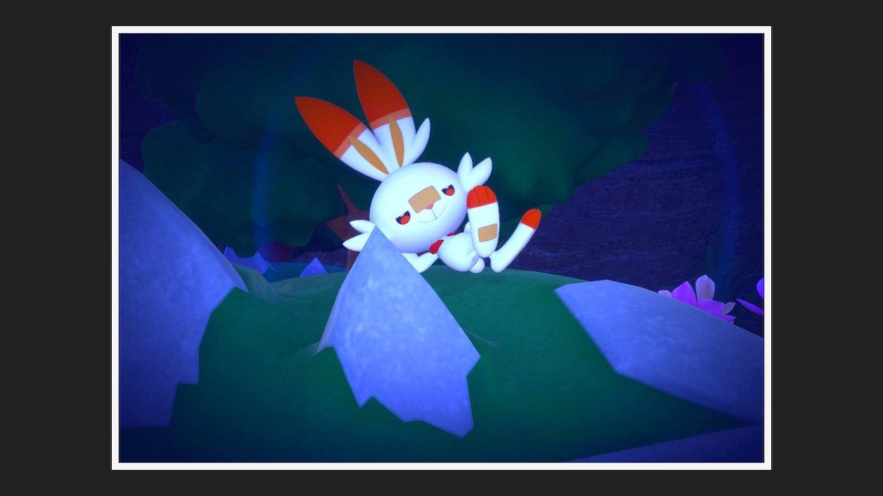 Scorbunny in New Pokémon Snap