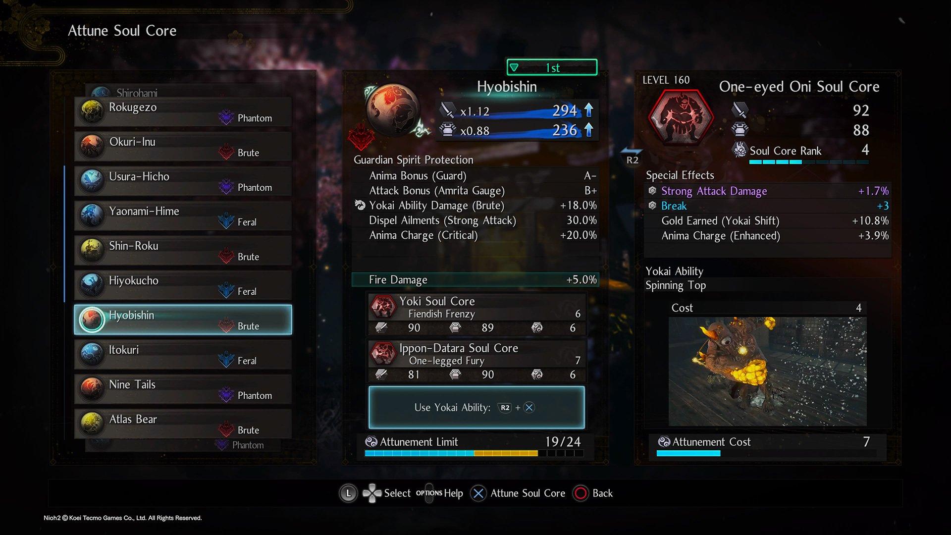 Nioh 2 Guardian Spirit Hyobishin