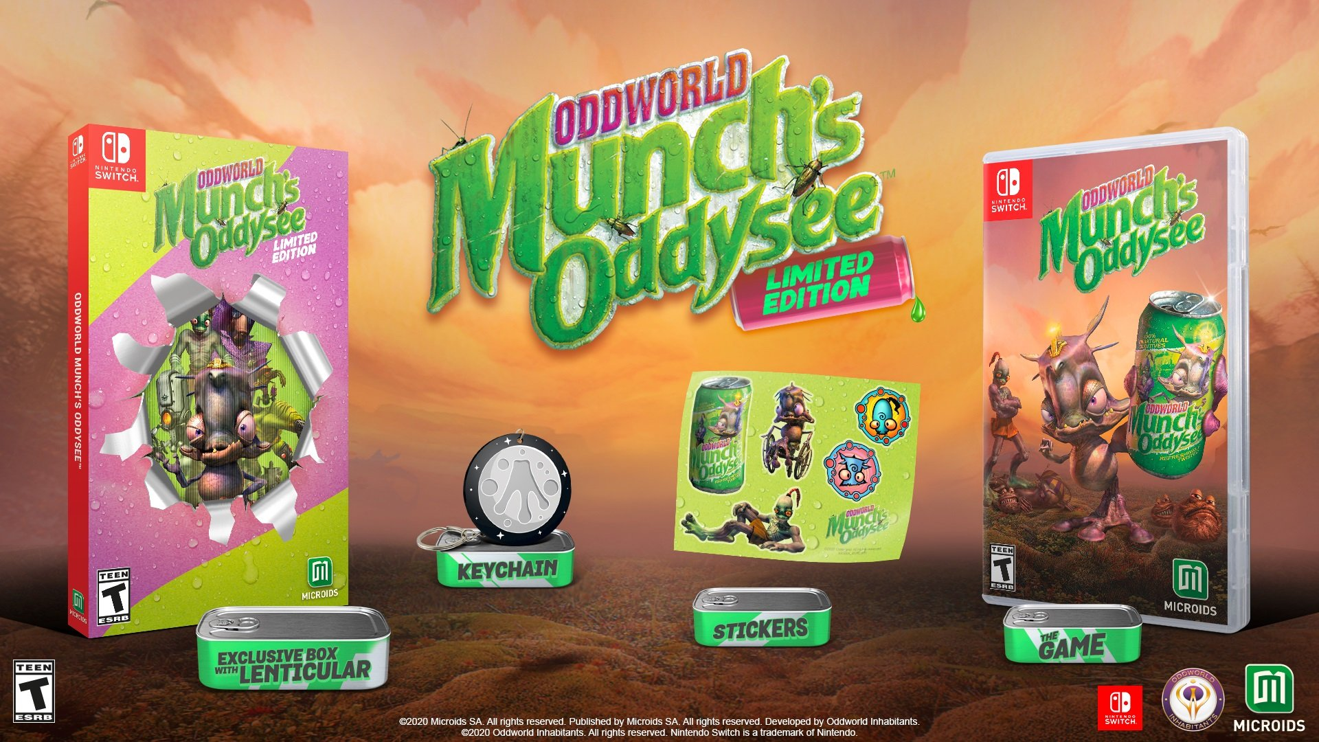 Oddworld Munch's Oddysee contest Switch win physical