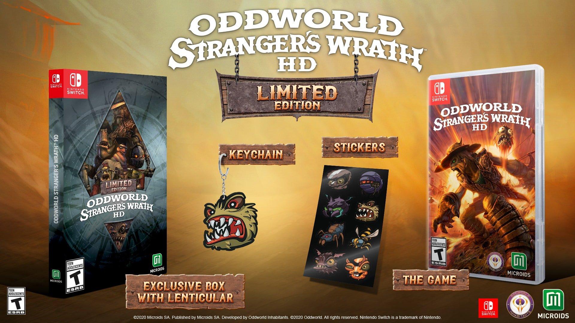 Oddworld Stranger's Wrath HD Limited Edition contest Switch