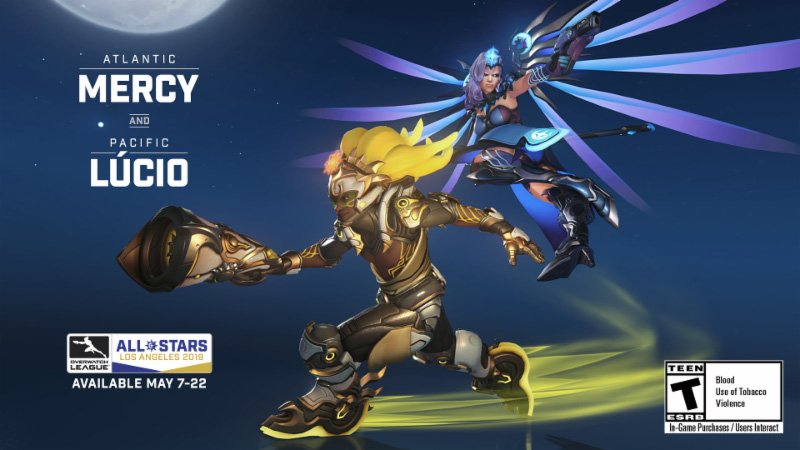Overwatch All-Stars 2019 Mercy and Lucio skins