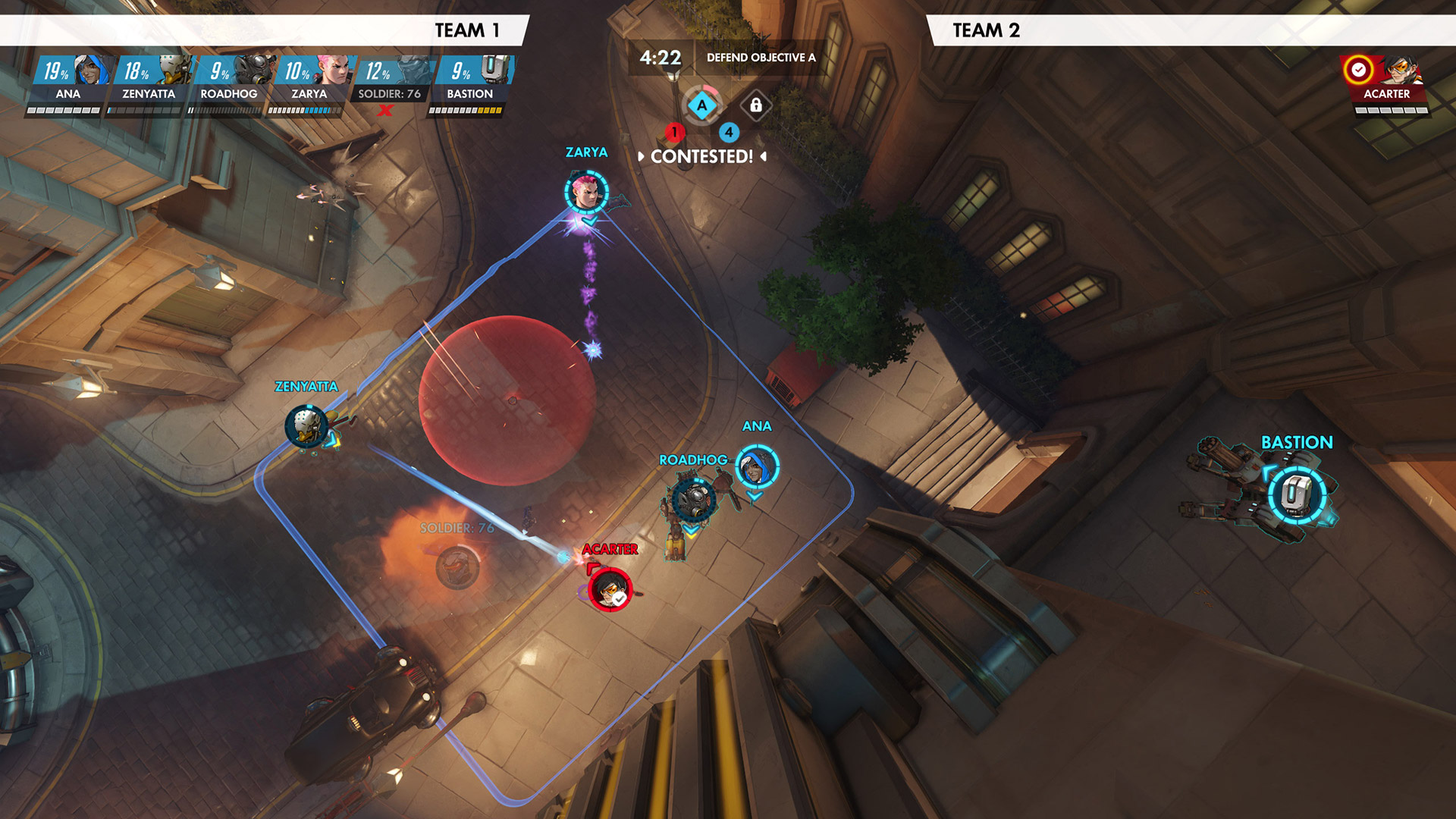 You can see Overwatch replays from an overhead view