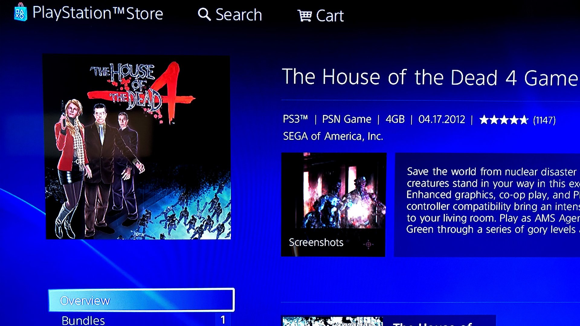 """The """"add to cart"""" button is invisible on the PlayStation 3 store, but you can still click it."""