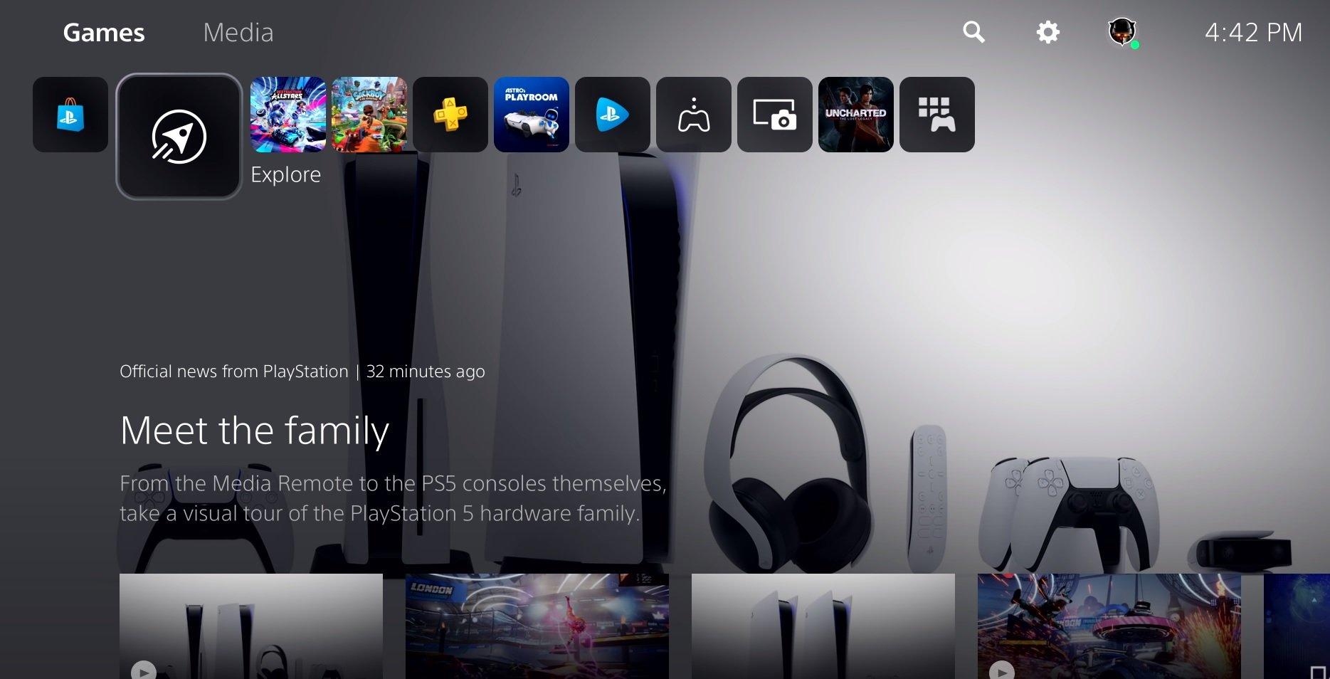PS5 UI