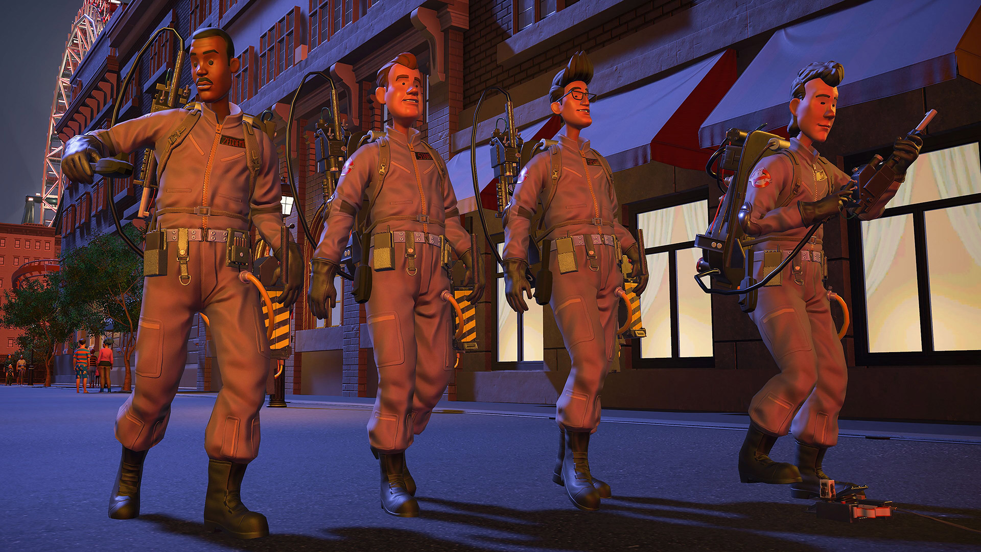 The Ghostbusters in Planet Coaster