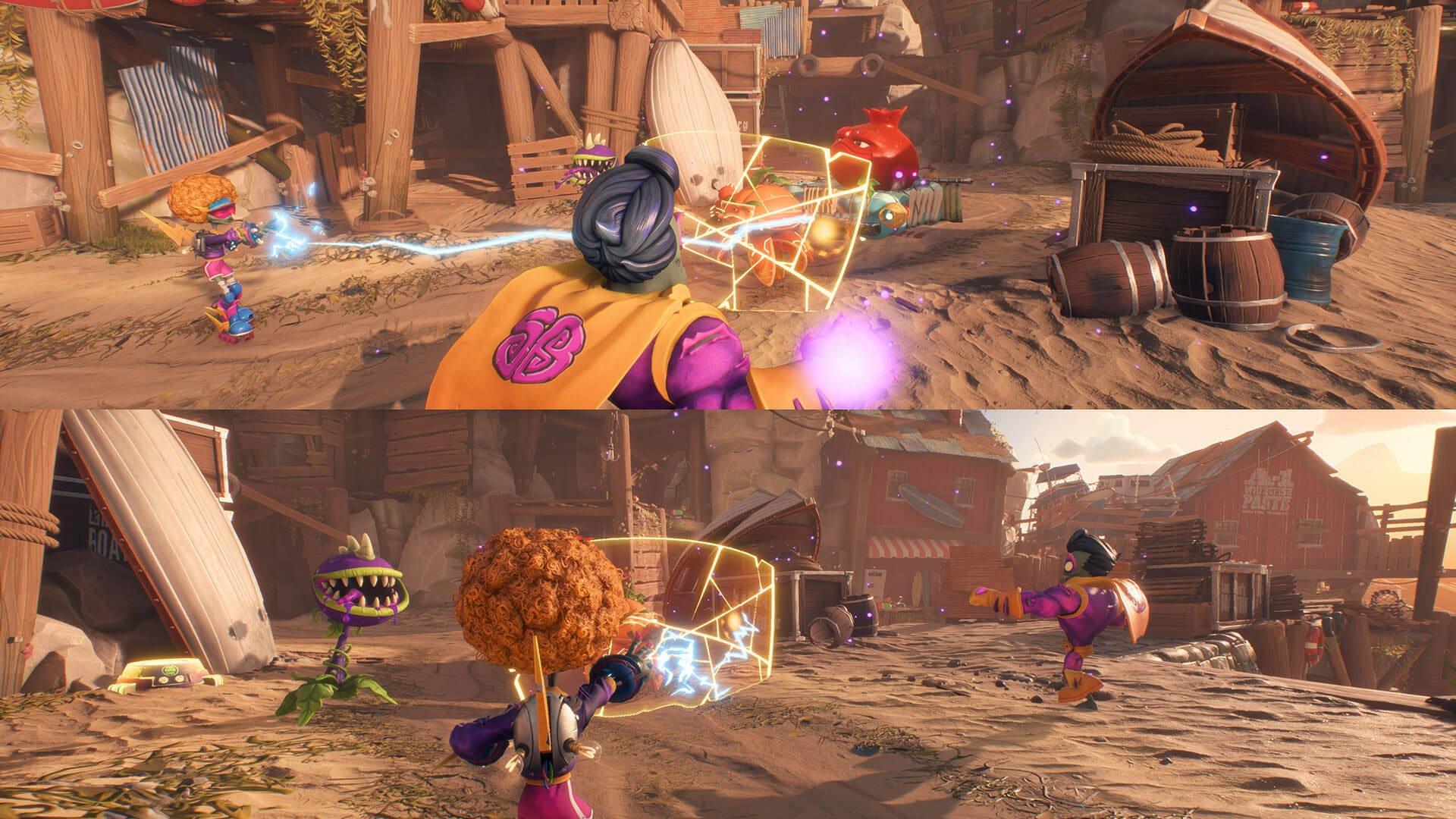 To play split-screen in Battle for Neighborville, you can hold the Square button on PS4 or X button on Xbox One