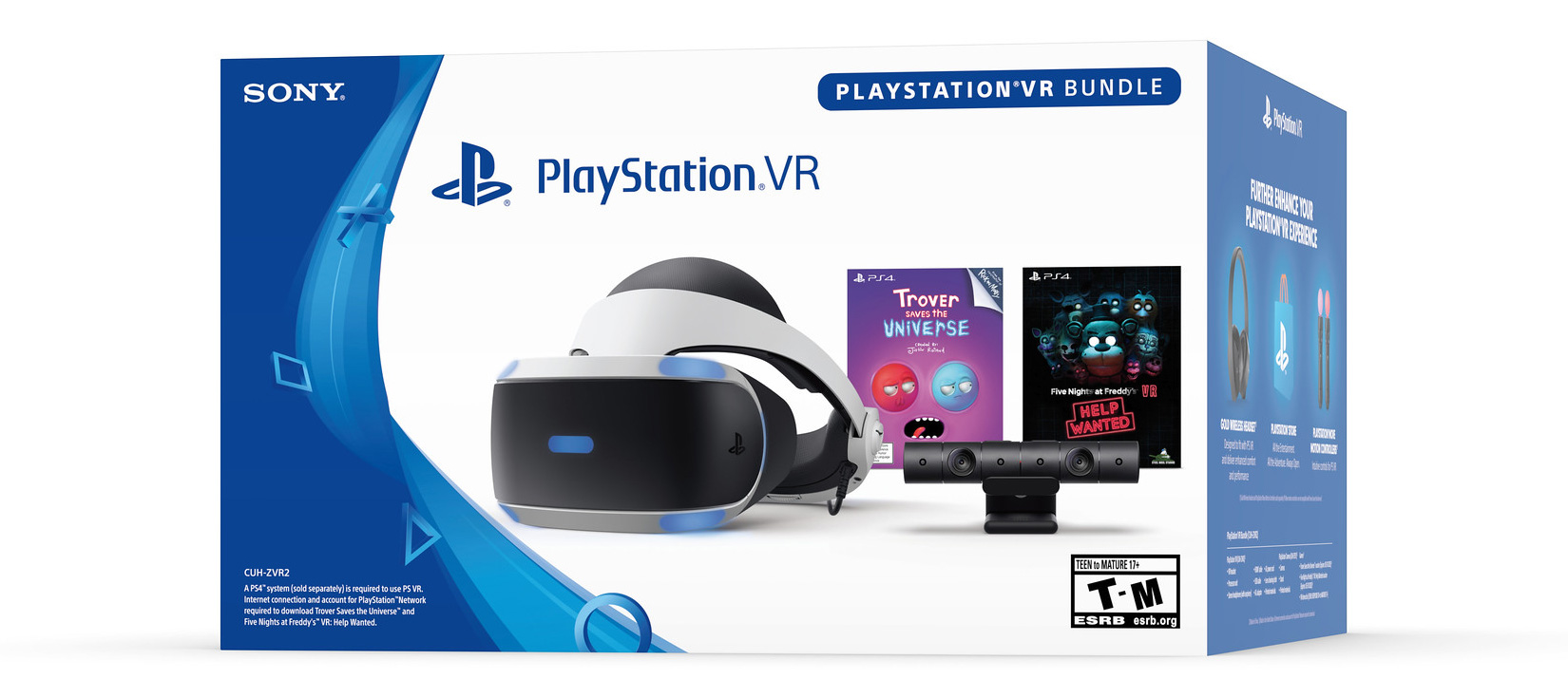 PlayStation VR 2019 bundle - Five Nights at Freddy's and Trover Saves the Universe