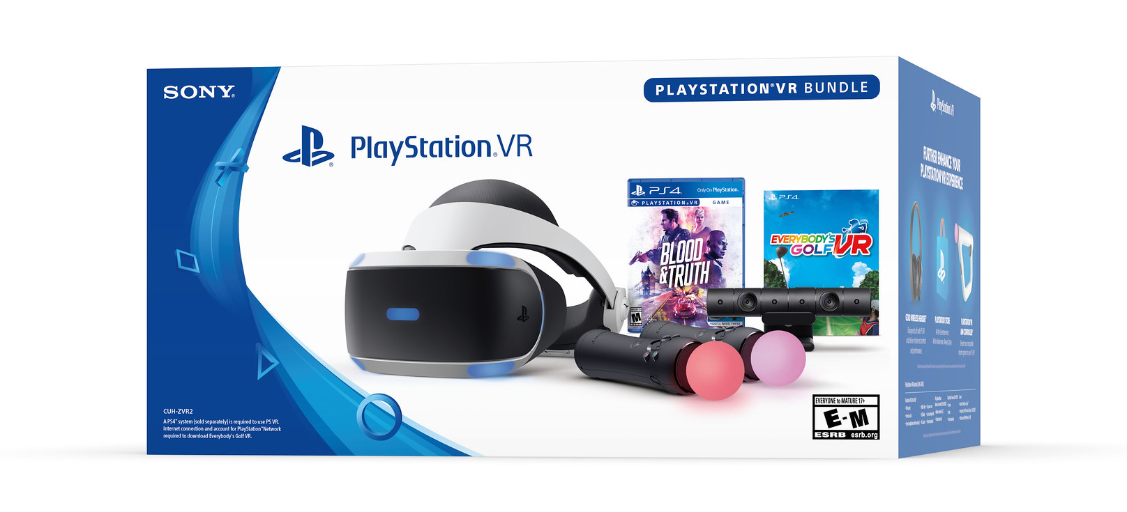 PlayStation VR 2019 bundle - Blood & Truth and Everybody's Golf VR