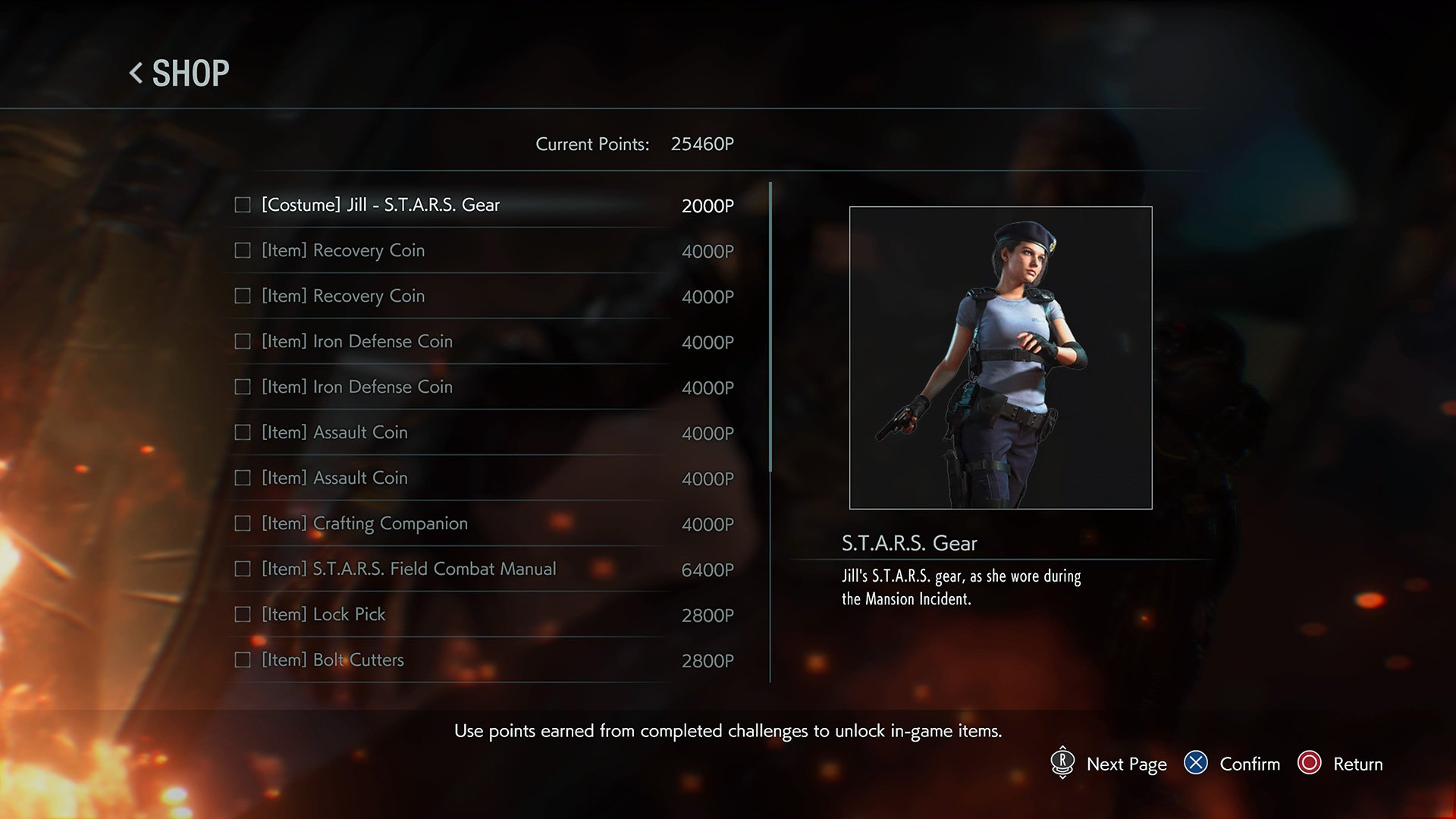 Resident Evil 3 Jill's S.T.A.R.S. outfit