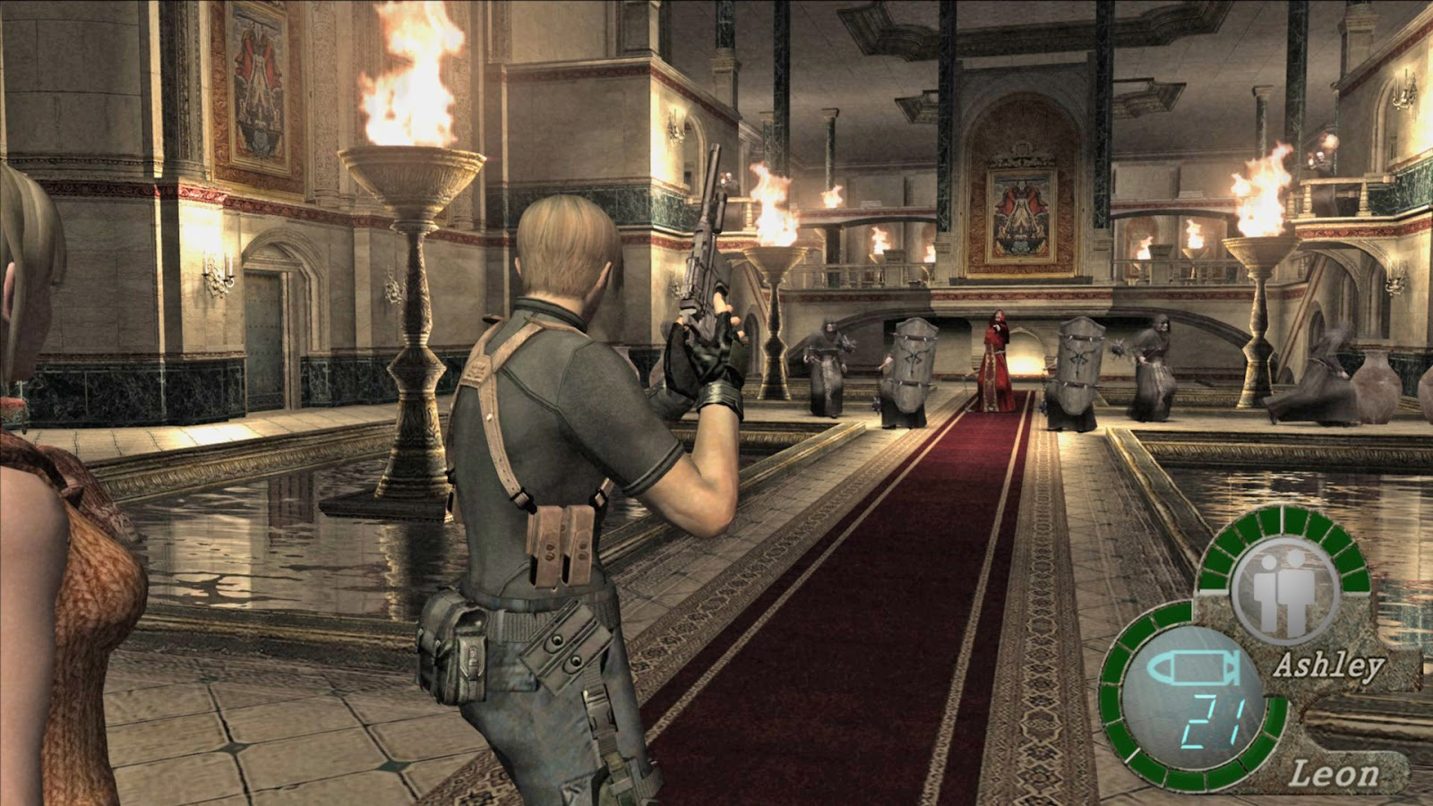 That one really hard castle room in Resident Evil 4.
