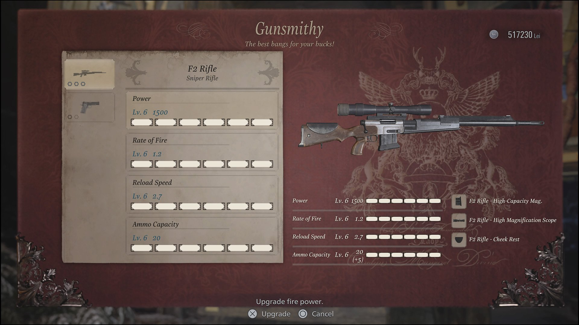 The F2 Rifle with all upgrades and attachments.